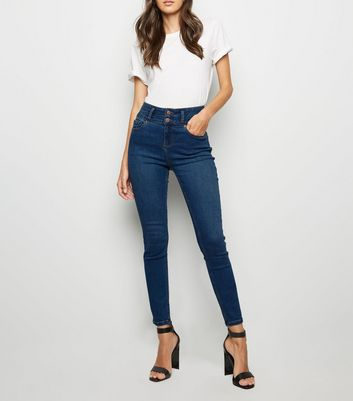 Blue High Waist 'Lift & Shape' Skinny Jeans