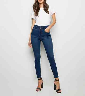 7a7f07bc5ed9 Pale Blue Black Blue. Blue High Waist 'Lift & Shape' Skinny Jeans ...