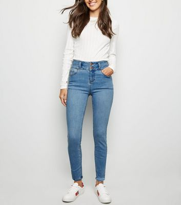 Pale Blue High Waist 'Lift & Shape' Skinny Jeans