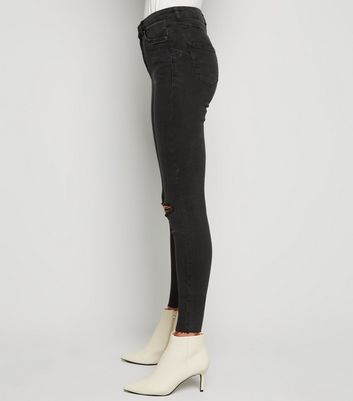 shop for Black 'Lift & Shape' Ripped Yazmin Skinny Jeans New Look at Shopo