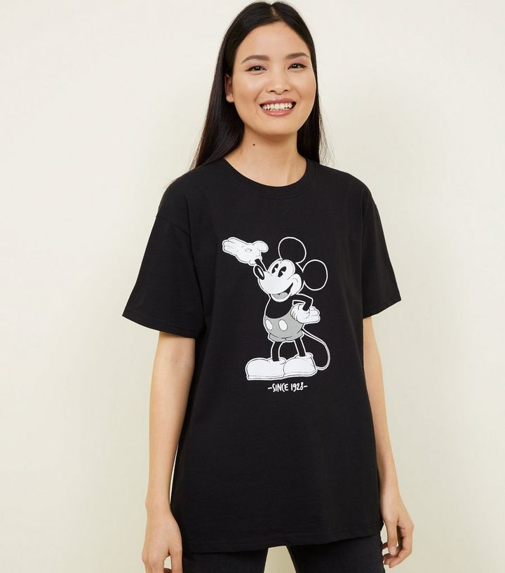 132978da70 Black Disney Mickey Mouse Print Oversized T-Shirt Add to Saved Items Remove  from Saved Items