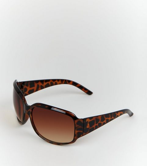 b521a2f5ded0 Dark Brown Faux Tortoiseshell Rectangle Sunglasses · Dark Brown Faux  Tortoiseshell Rectangle Sunglasses ...
