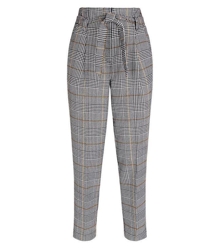 2e1c7051c5a9ed ... Black Check Tie Waist Trousers. ×. ×. ×. Shop the look