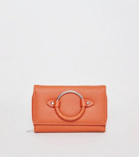 Orange Wred Ring Front Purse