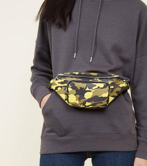 ... Yellow Camo Print Bum Bag ... eb3a3e3659e68