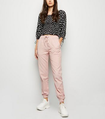 Pink Lightweight Denim Joggers