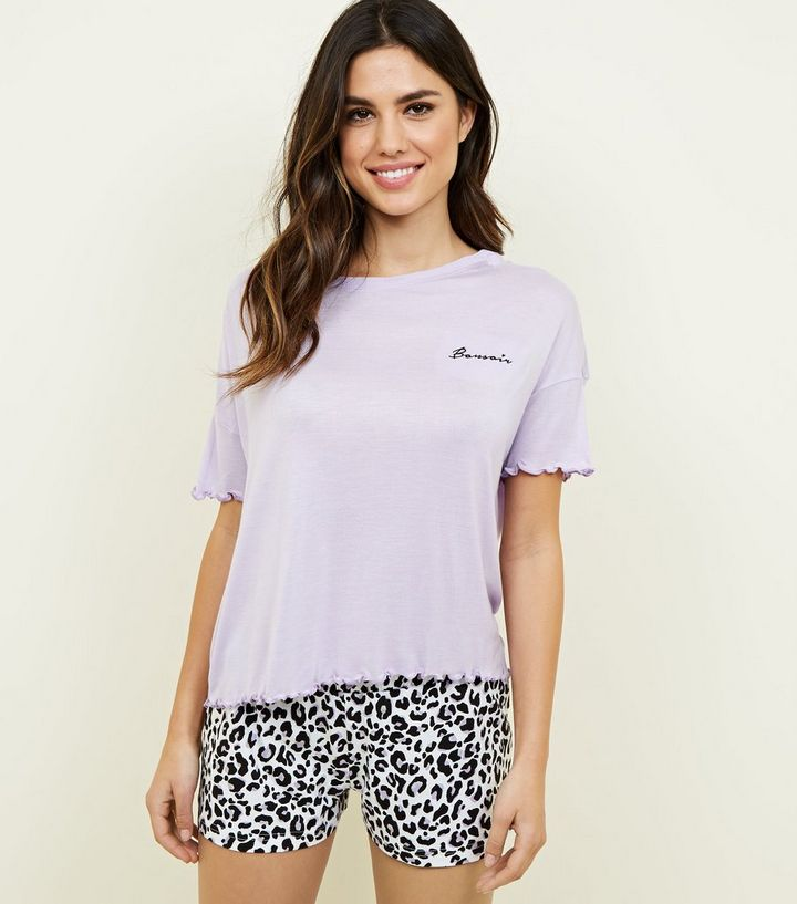 vivid and great in style reputation first unequal in performance Lilac Bonsoir Leopard Print Shorts Pyjama Set Add to Saved Items Remove  from Saved Items