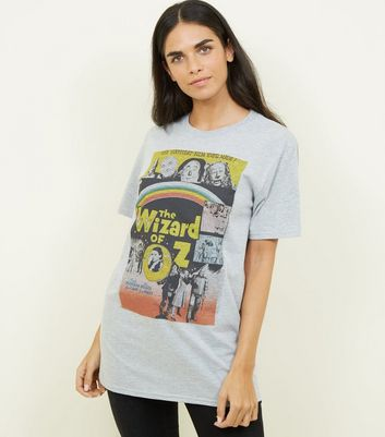 Grey Marl Wizard Of Oz Poster T-Shirt