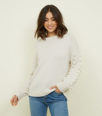 Cameo Rose Cream Bobble Sleeve Jumper