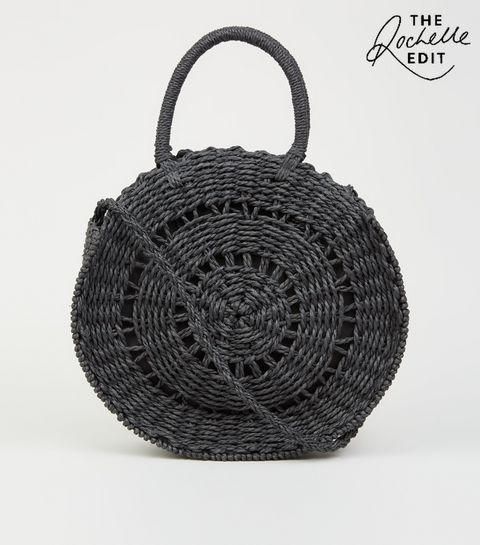... Black Straw Effect Cross Body Bag ... 9e461746bb9a9