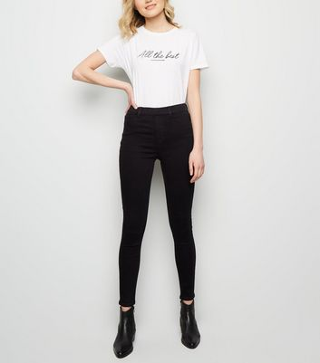 Black 'lift & Shape' Jeggings by New Look