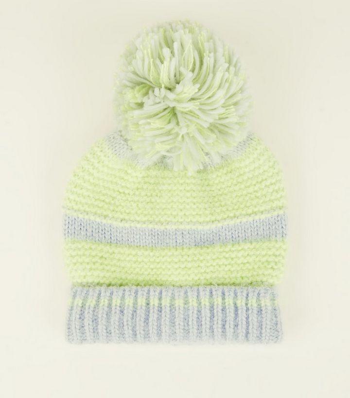 dabefd4f8c6 Green Neon Space Dye Bobble Hat