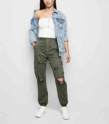 98150e11b0 Jeans déchirés femme | Jeans délavés à ourlets | New Look