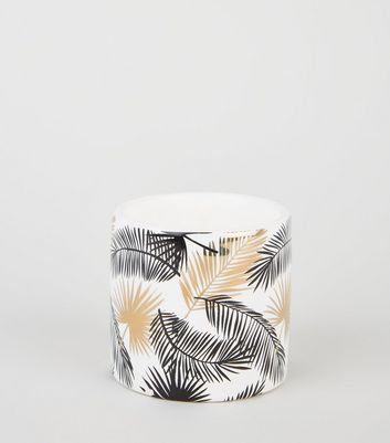 White Palm Print Candle