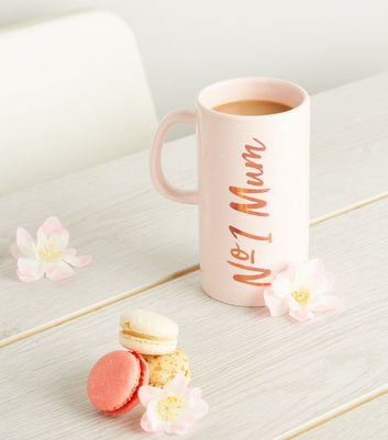 Pale Pink No1 Mum Slogan Mug