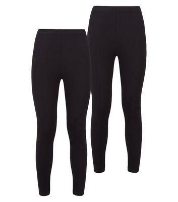 shop for Petite 2 Pack Black Leggings New Look at Shopo