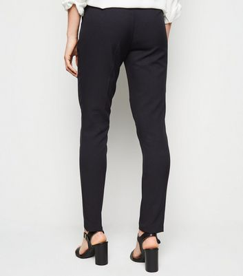 shop for Black Short Length Slim Stretch Trousers New Look at Shopo