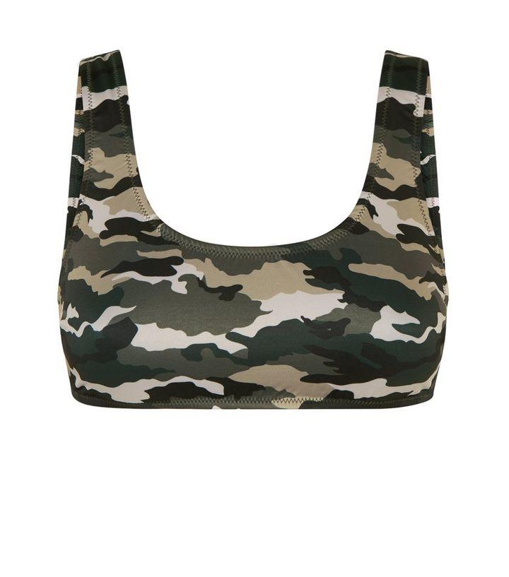 eb74f0b9f53 Home · Womens · Clothing · Swimwear · Green Camo Bikini Crop Top. ×. ×. ×.  Shop the look