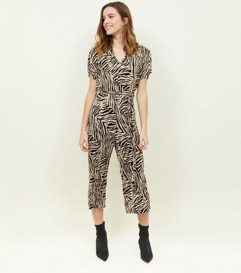 f84d00abc94 Black Plissé Zebra Print Jumpsuit · Black Plissé Zebra Print Jumpsuit ...
