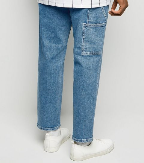 78ce15ff09a ... Blue Straight Leg Side Pocket Carpenter Jeans ...