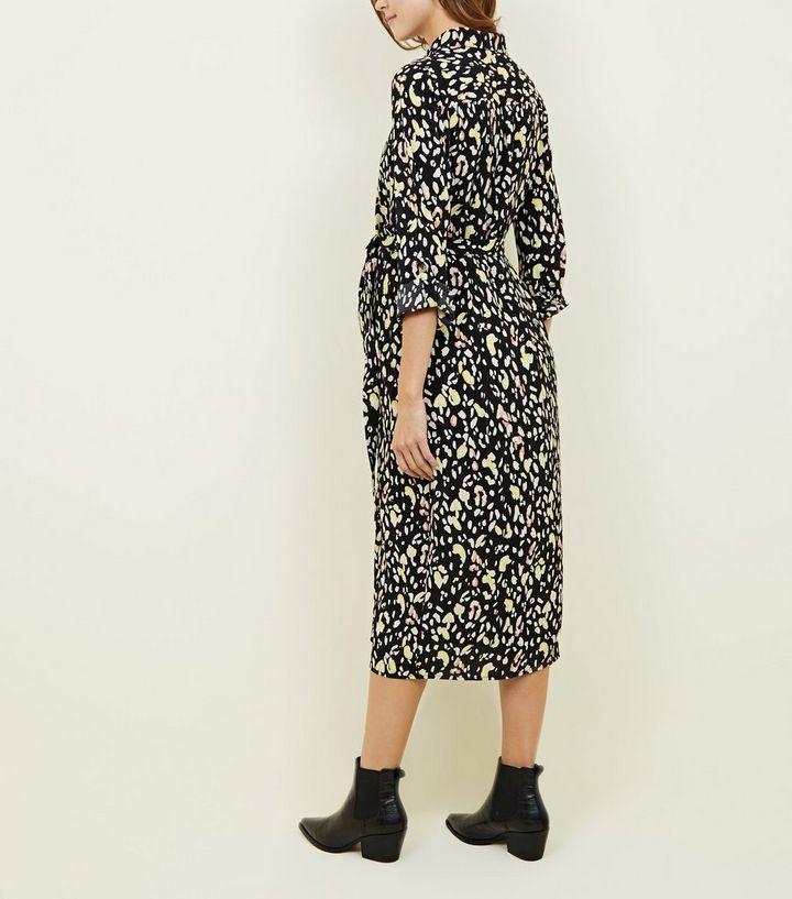 925c35c14a8 ... Maternity Black Leopard Print Shirt Dress. ×. ×. ×. Shop the look
