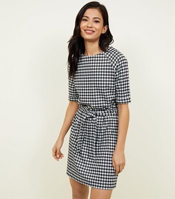 Black Belted Houndstooth Tunic