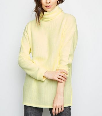 Yellow Roll Neck Oversized Jumper