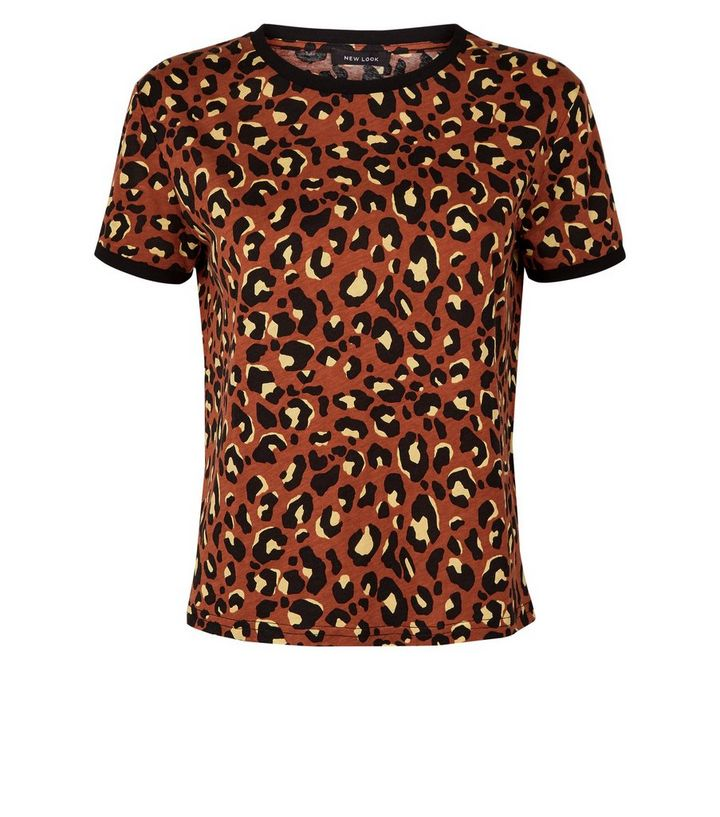029e788b7840 ... Rust Leopard Print Ringer T-Shirt. ×. ×. ×. Shop the look