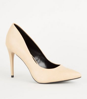 Stone Faux Snakeskin Stiletto Courts