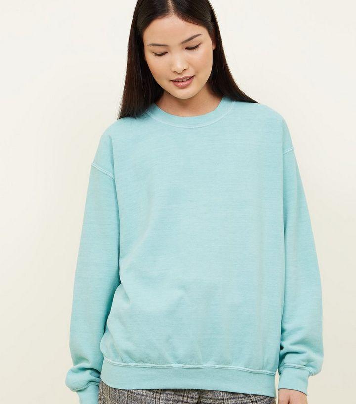 7a8648fb4f Mint Green Oversized Sweatshirt