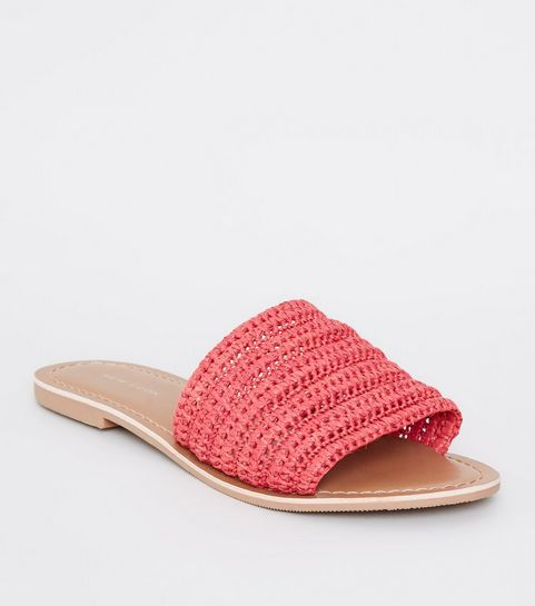 23aad73b6 Red Woven Strap Sliders · Red Woven Strap Sliders ...