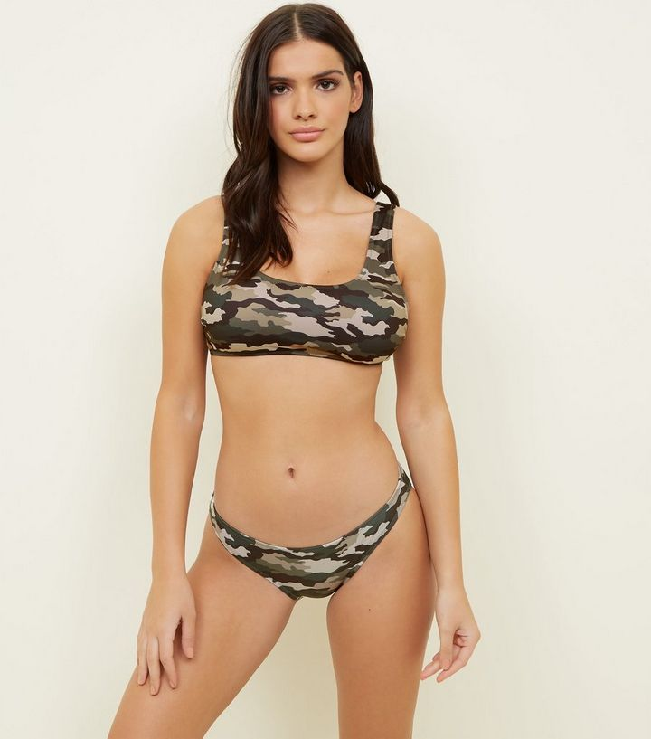 Green Camo Hipster Bikini Bottoms Add to Saved Items Remove from Saved Items