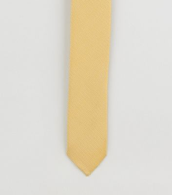 Yellow Recycled High Shine Skinny Tie