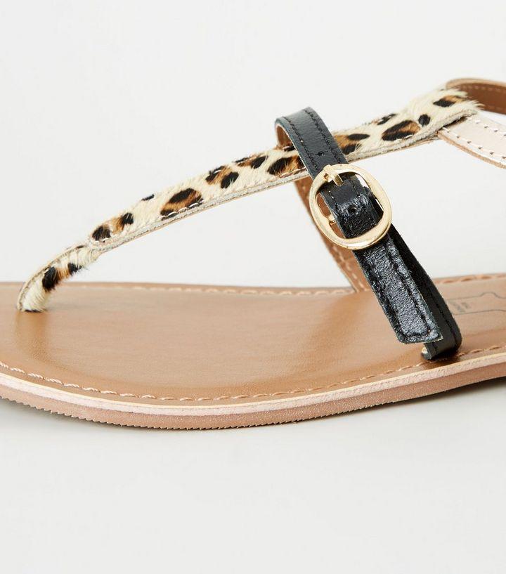 ddc608c61c8d ... Black Leather Leopard Print Strap Sandals. ×. ×. ×. Shop the look