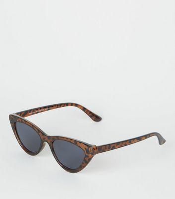 Dark Brown Cat Eye Sunglasses by New Look