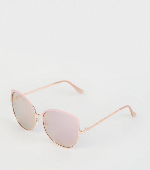 5c66fc1e4f Pink Oversized Rectangle Sunglasses · Pink Oversized Rectangle Sunglasses  ...