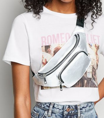 Silver High Shine Bum Bag