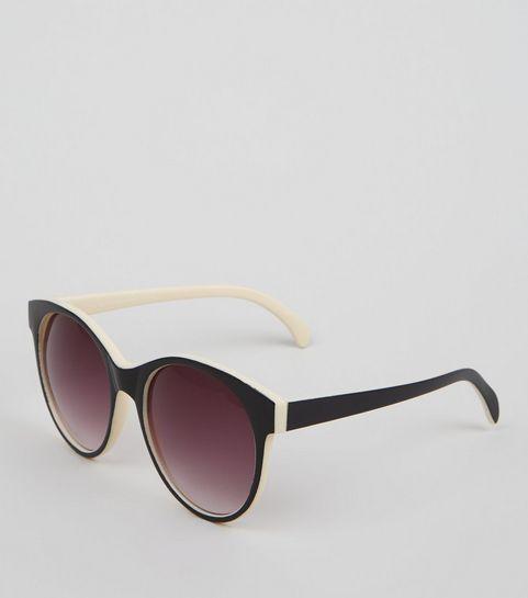 6112d67584f6 Black Rounded Contrast Inner Sunglasses · Black Rounded Contrast Inner  Sunglasses ...