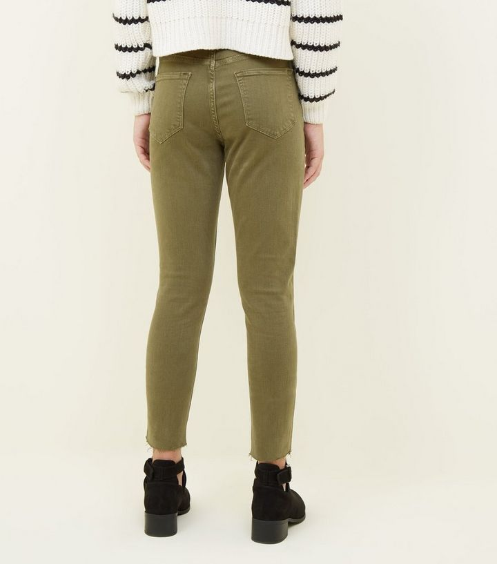 cfbf572023b ... Girls Khaki Ripped Skinny Jeans. ×. ×. ×. Shop the look