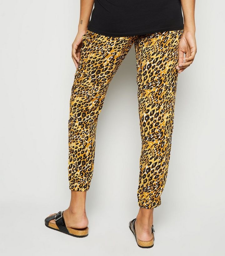 69cf232bfbf13 ... Maternity Mustard Leopard Print Joggers. ×. ×. ×. Shop the look