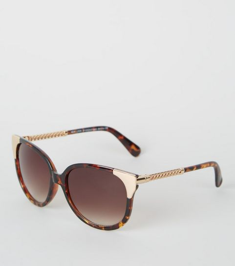 9bdcb2843d39e Dark Brown Tortoiseshell Print Sunglasses · Dark Brown Tortoiseshell Print  Sunglasses ...