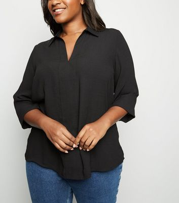 Curves Black Overhead Shirt