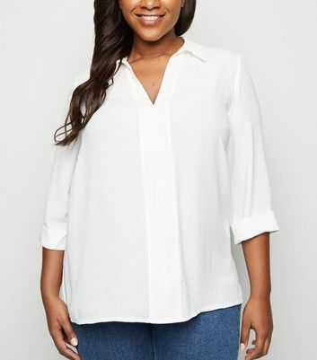 Curves Off White Overhead Shirt