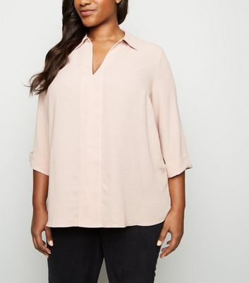 Curves Pale Pink Overhead Shirt