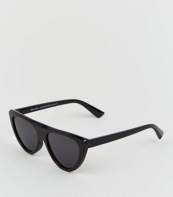 Black Flattop Cat Eye Sunglasses