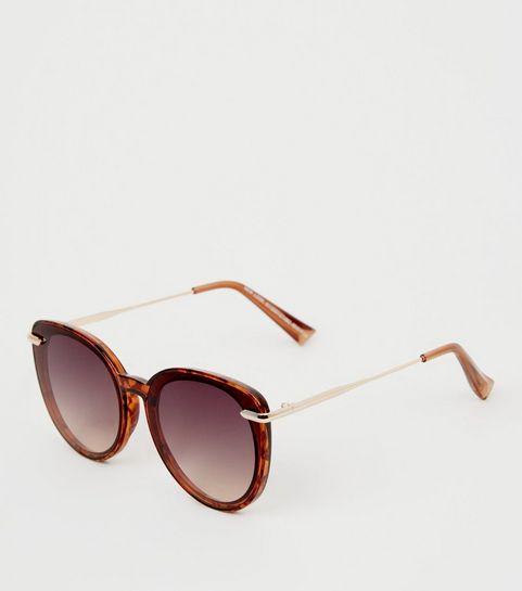 1ef58eec120d8 ... Dark Brown Cat Eye Sunglasses ...