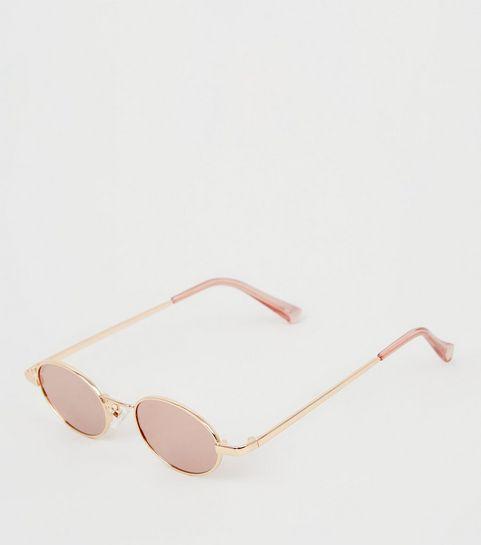 ... Rose Gold Mini Oval Sunglasses ... 7ead79bd4f