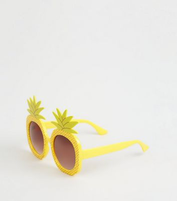 Yellow Novelty Pineapple Sunglasses