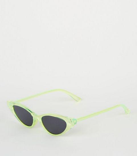 8b1dc712ae ... Yellow Neon Clear Cat Eye Sunglasses ...