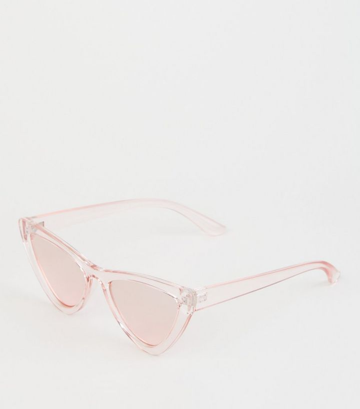 dd4617f4aa379 Pink Tinted Cat Eye Sunglasses